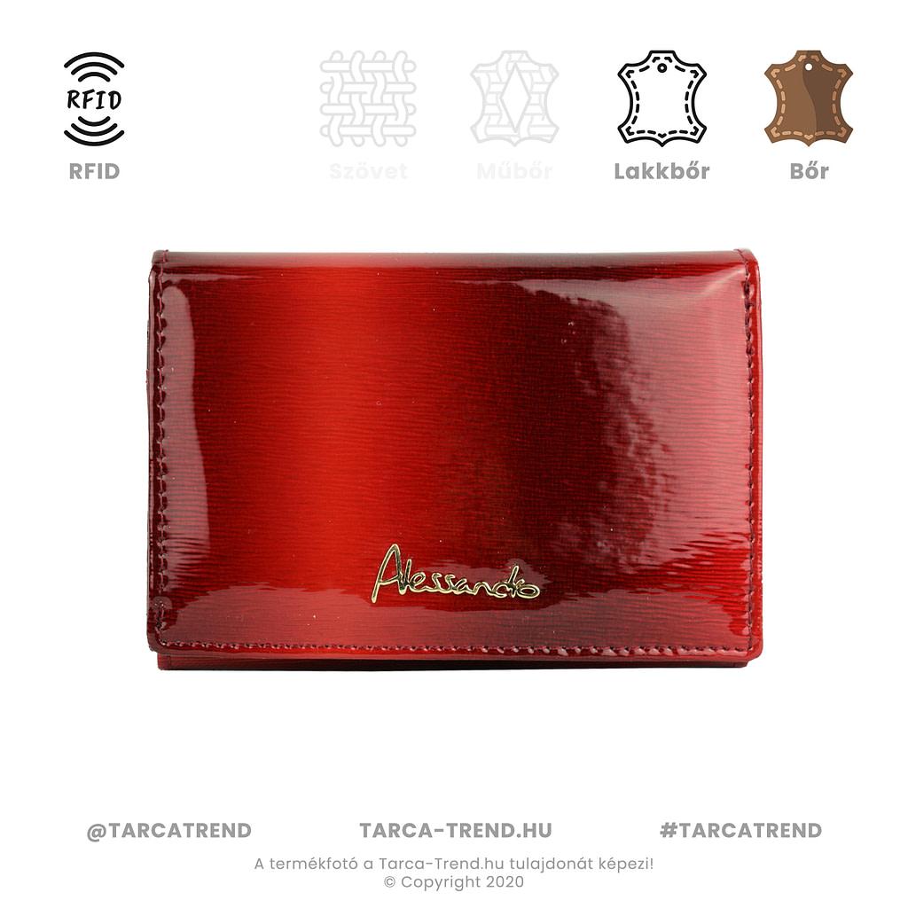 Alessandro Paoli pénztárca piros bőr 6241 tarca-trend.hu
