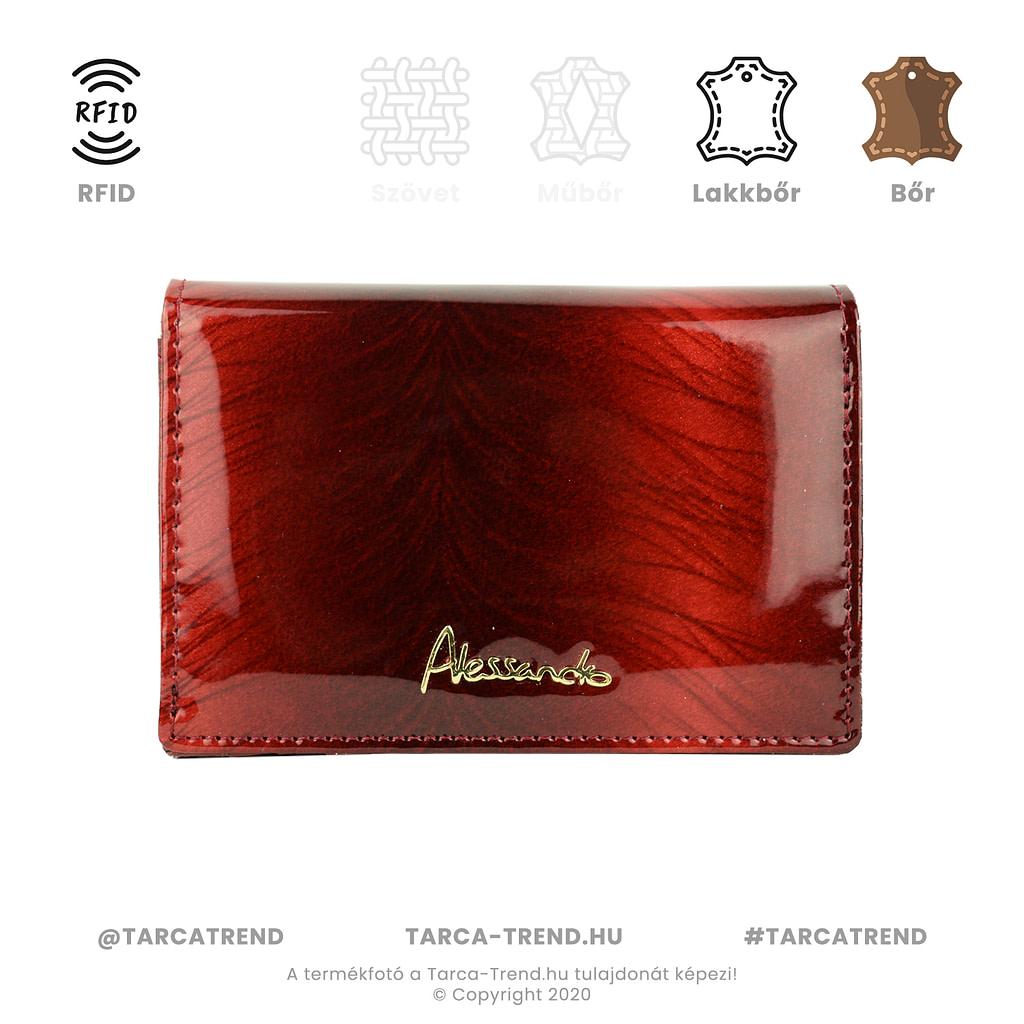 Alessandro Paoli pénztárca piros bőr RFID 6341 tarca-trend.hu