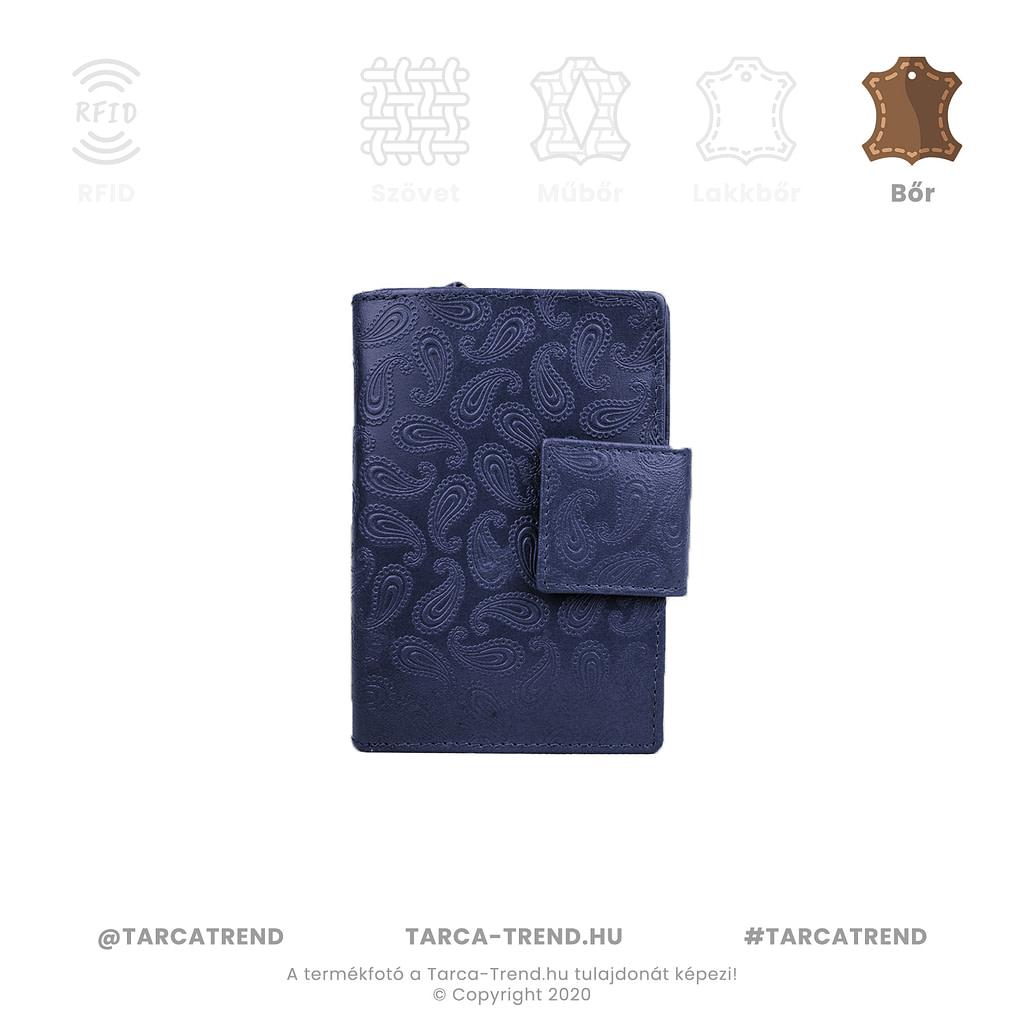 Farkas pénztárca kék álló bőr csepp minta 867341 tarca-trend.hu
