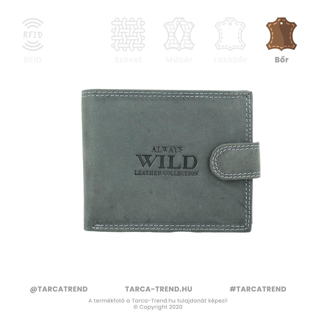 Always Wild szürke koptatott bőr férfi pénztárca - www.tarca-trend.hu