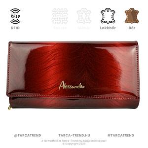Alessandro Paoli pénztárca piros lakkbőr RFID 6369_01-01 tarca-trend.hu